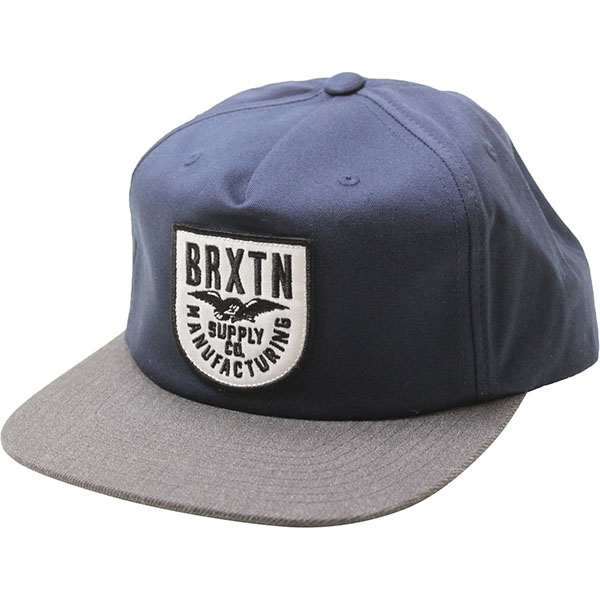 Alliance Snap Back Hat by Brixton- NAVY / CHARCOAL (Sale price!)