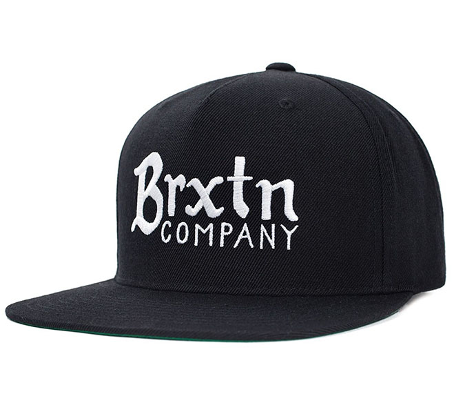 Barley Snap Back Hat by Brixton- BLACK (Sale price!)