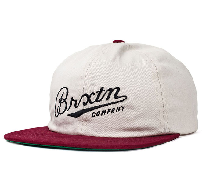 Fenway Hat by Brixton- WHITE / BURGUNDY (Sale price!)