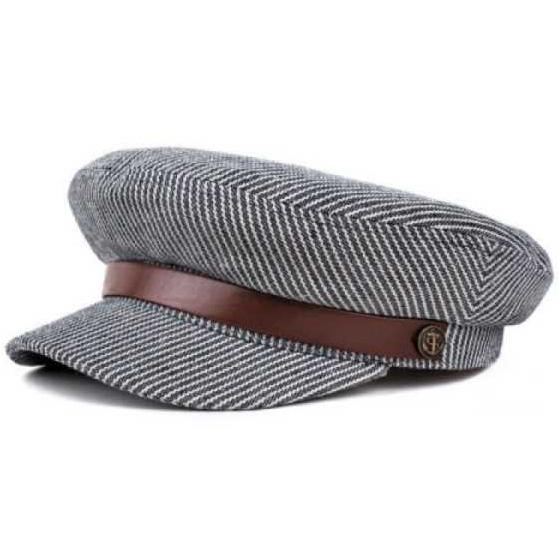 Fiddler Hat by Brixton- NAVY STRIPE