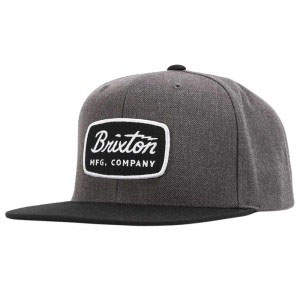 Grade Snap Back Hat by Brixton- CHARCOAL HEATHER / BLACK (Sale price!)