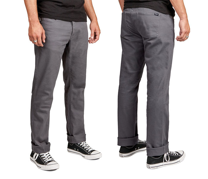Reserve 5 Pocket Jean by Brixton- CHARCOAL