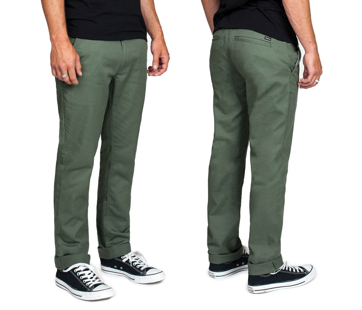 Grain Slim Fit Chino Pants by Brixton- CYPRESS - SALE sz 28 only