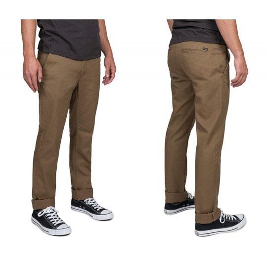 Grain Slim Fit Chino Pants by Brixton- DARK KHAKI - SALE sz 34 only