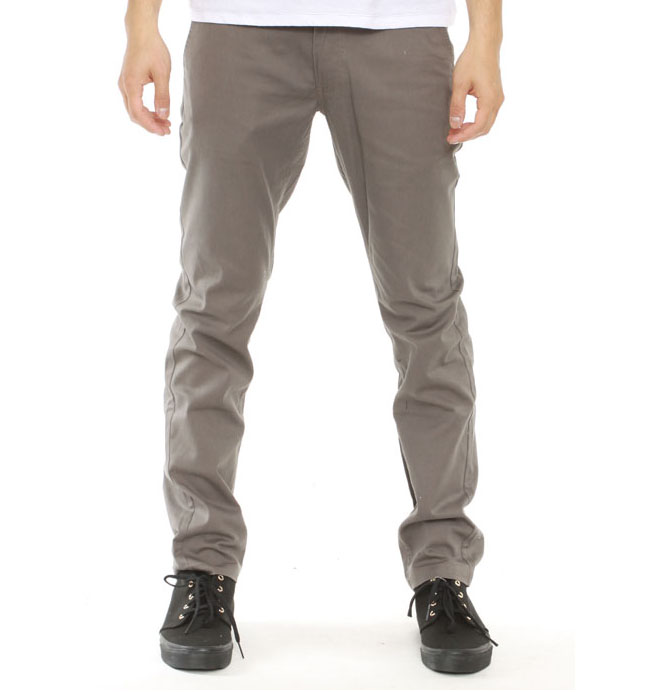 Grain Slim Fit Chino Pants by Brixton- GREY