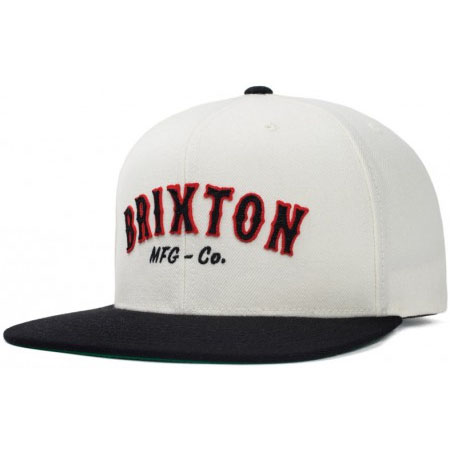 Harold Snap Back Hat by Brixton- WHITE / BLACK (Sale price!)