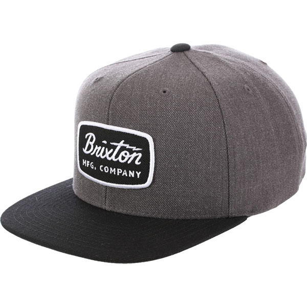Jolt Snap Back Hat by Brixton- CHARCOAL HEATHER / BLACK (Sale price!)