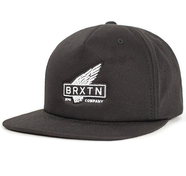 Rawlins Snap Back Hat by Brixton- BLACK (Sale price!)