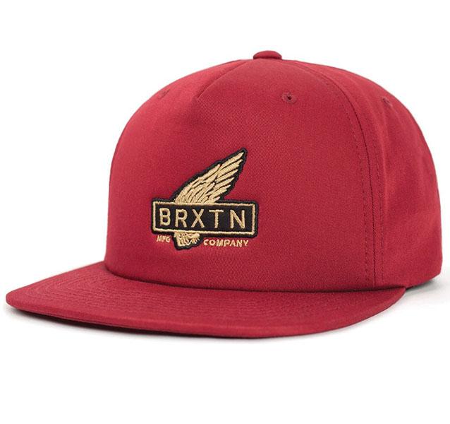 Rawlins Snap Back Hat by Brixton- BURGUNDY (Sale price!)