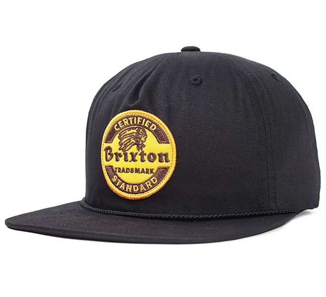 Soto Snap Back Hat by Brixton- BLACK (Sale price!)