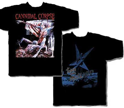 Cannibal Corpse- Tomb Of The Mutilated on front & back on a black shirt