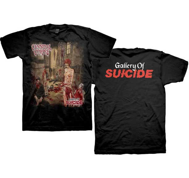 Cannibal Corpse- Gallery Of Suicide on front & back on a black shirt