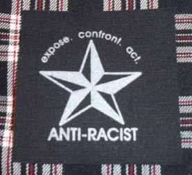 Anti-Racist, Expose Confront Act cloth patch (cp852)