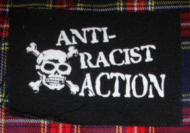 Anti Racist Action- Skull cloth patch (cp893)