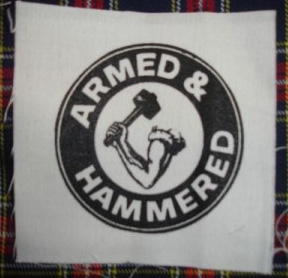 Armed And Hammered cloth patch (cp912)
