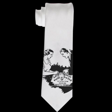 Date Night Ouija Tie by Se7en Deadly - in Off White