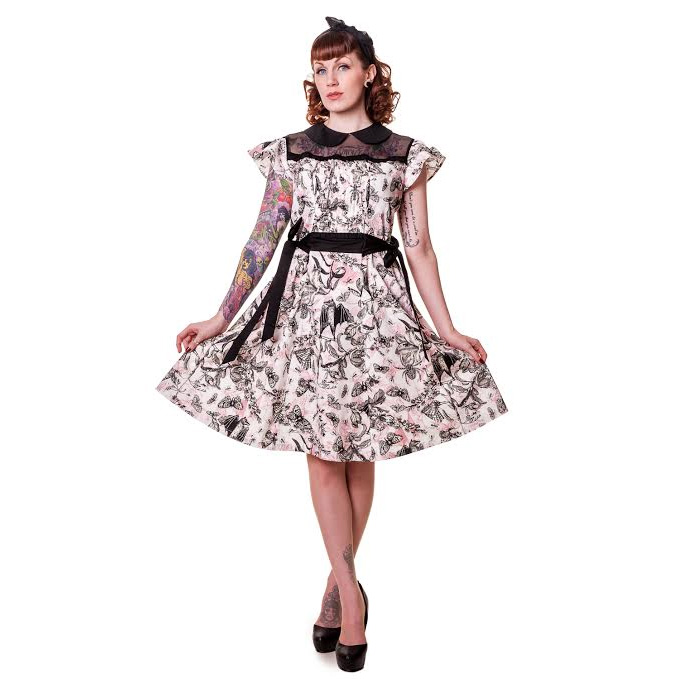 Bats & Butterfly Trill Dress by Banned Apparel - SALE sz XS & Med only