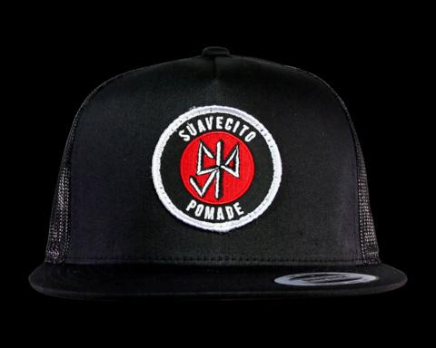 Suavecito Pomade- Dead Suave on a black trucker hat