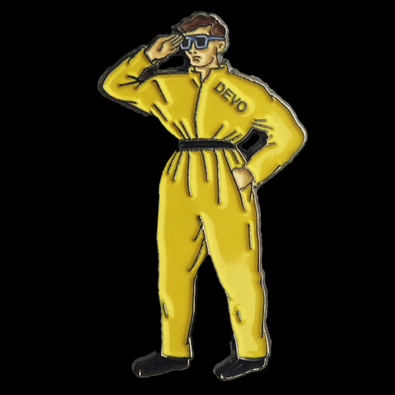 Official Devo Suit Enamel Pin from Western Evil (MP40)