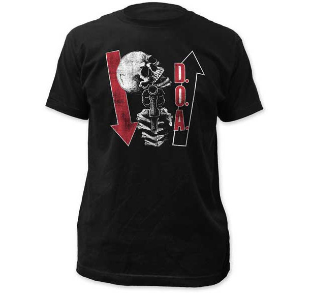 DOA- Kill Ya Later on a black ringspun cotton shirt (Sale price!)