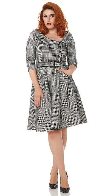 Breana Plaid Flare Dress by Voodoo Vixen -SALE - sz XL only