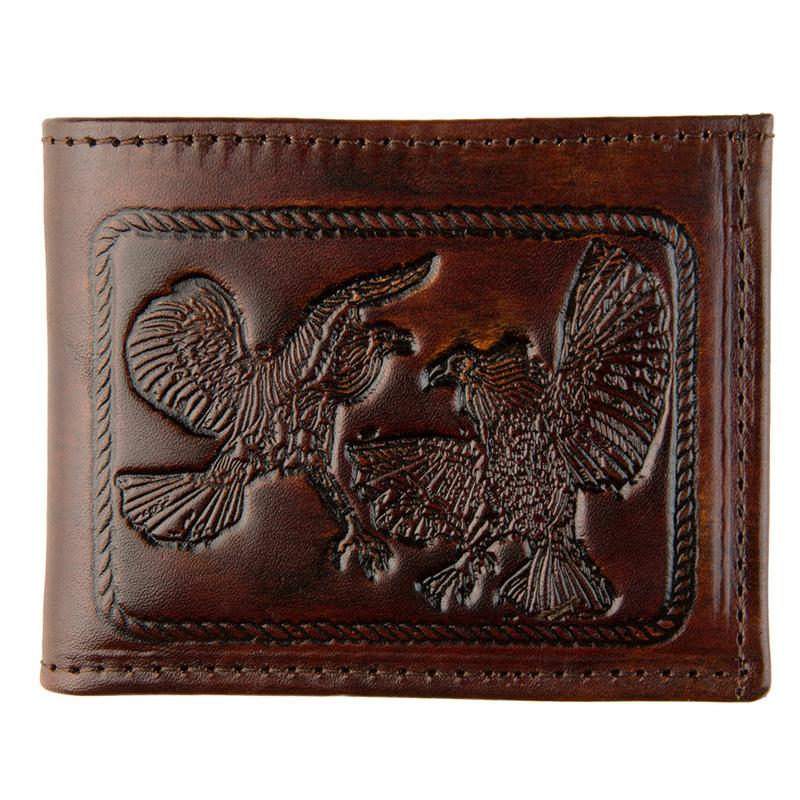 Antique Billfold Fighting Cocks Wallet