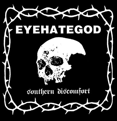 Eyehategod- Southern Discomfort on a black hooded sweatshirt