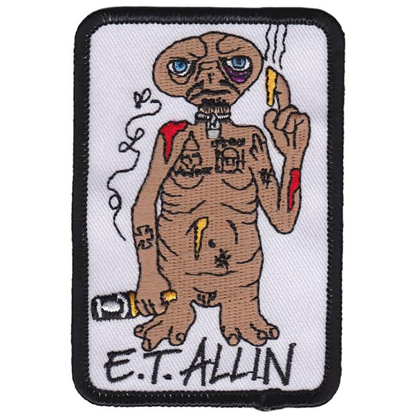 ET Allin Embroidered Patch by Thrillhaus (ep591)