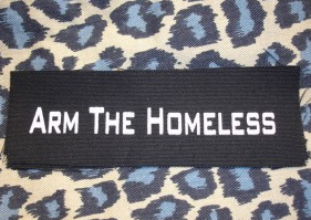 Arm The Homeless cloth patch (cp136)