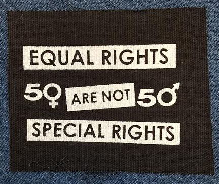 Equal Rights Are Not Special Rights cloth patch (cp558)