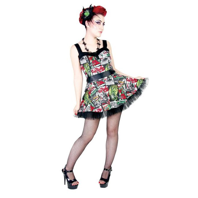 B-Movie Mini Dress by Hell Bunny