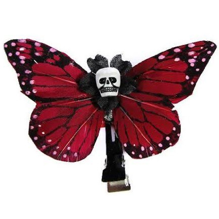 Kahlovera (Skull Butterfly) hair clips by Hairy Scary - SALE