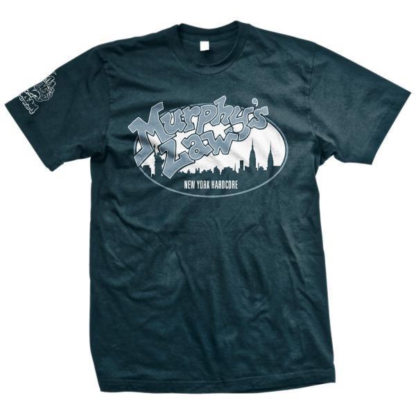 Murphys Law- New York Hardcore on a blue shirt
