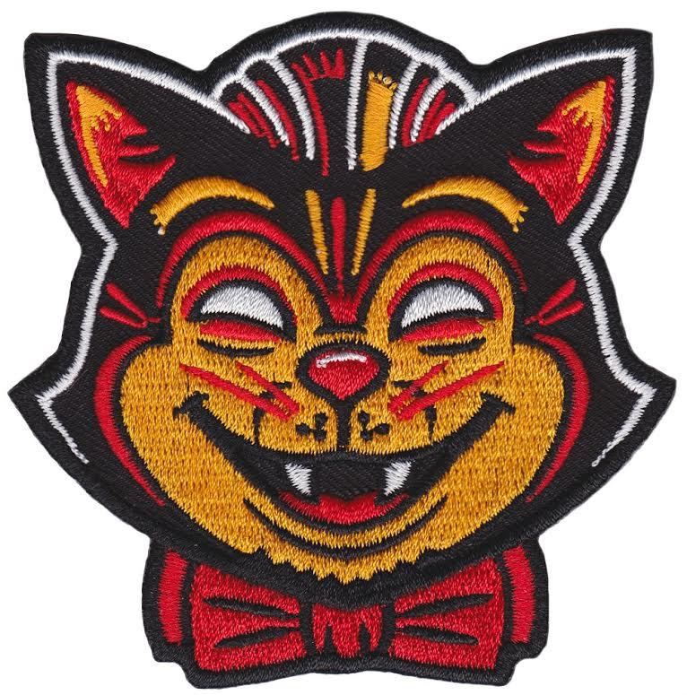 Kustom Kreeps Creepy Cat Embroidered Patch  - from Sourpuss (EP619)