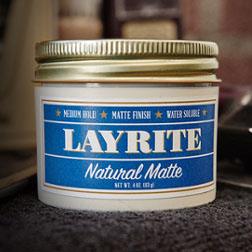 Natural Matte Cream by Layrite (4.25oz Can) (Sale price!)