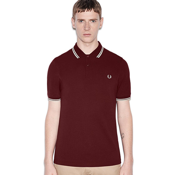 Fred Perry Polo Shirt- Port / Ecru