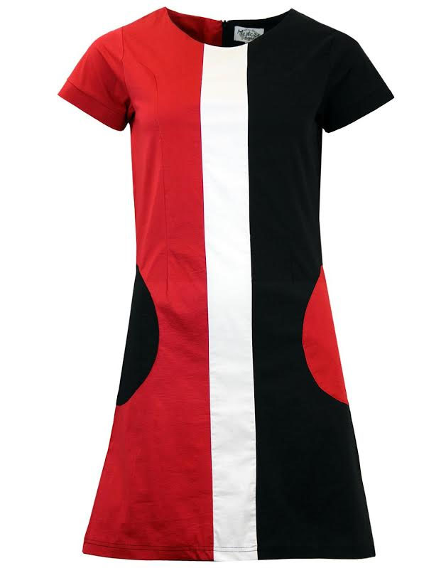 Honey Mod Mini Dress by Madcap England - in Black & Red - SALE sz L only
