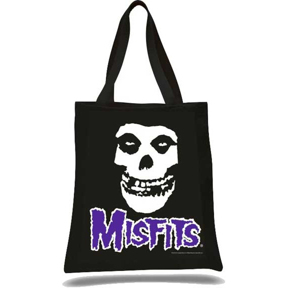 Misfits- Skull on a black tote bag