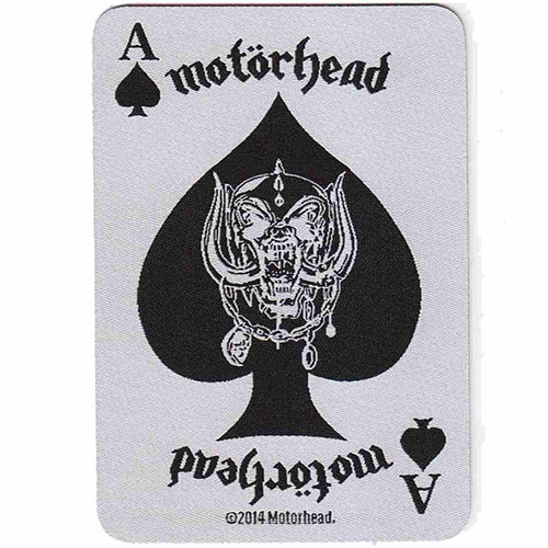 Motorhead- Ace Of Spades (Card) woven patch (ep614)