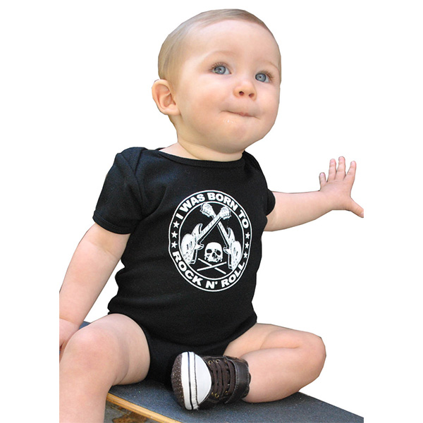 I Was Born To Rock N Roll baby onesy by Lucky Mule (Sale price!)
