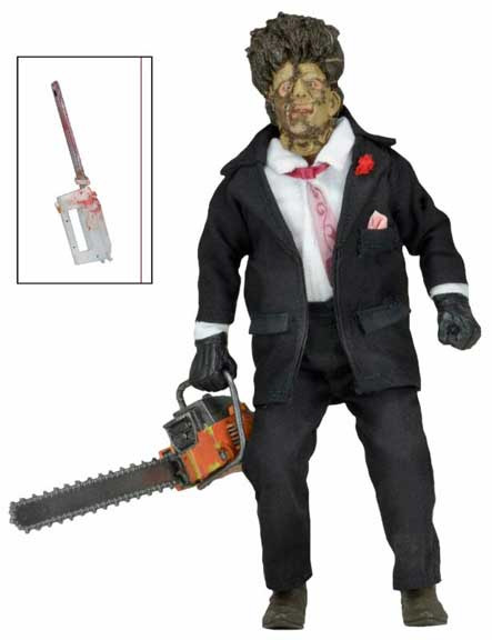 "Texas Chainsaw Massacre 2- 30th Anniversary Leatherface 8"" Clothed Figure"