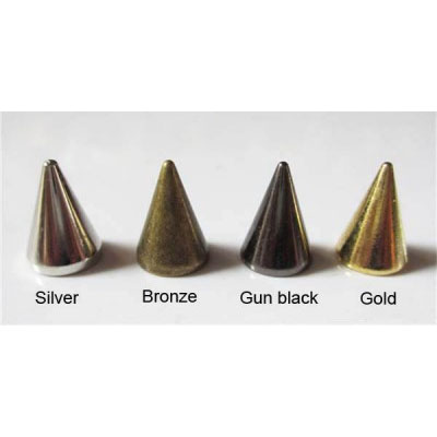 "1/2"" Cone Spike #1- VARIOUS COLORS (10x14mm)"