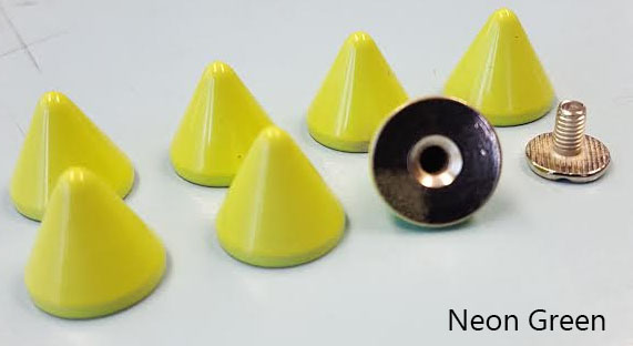 """2/5"""" Cone Spike- Various Colors (12x11mm)"""