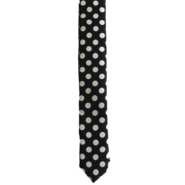 Black With White Dots Tie