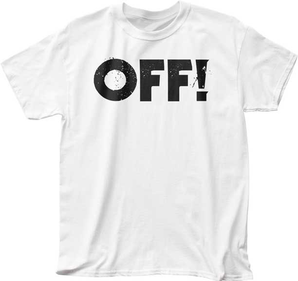 Off!- Logo on a white shirt