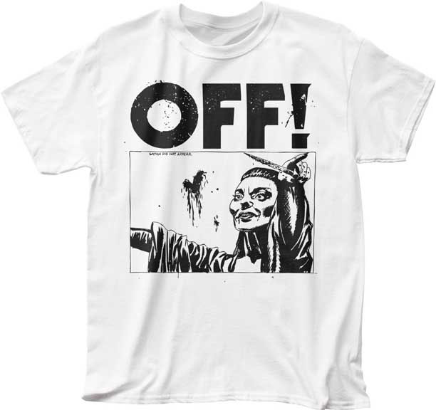Off!- Satan Did Not Appear on a white shirt