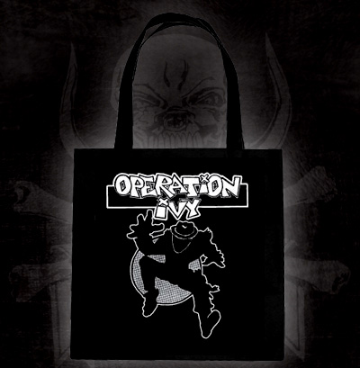 Operation Ivy- Skanking Guy on a black tote bag (Sale price!)