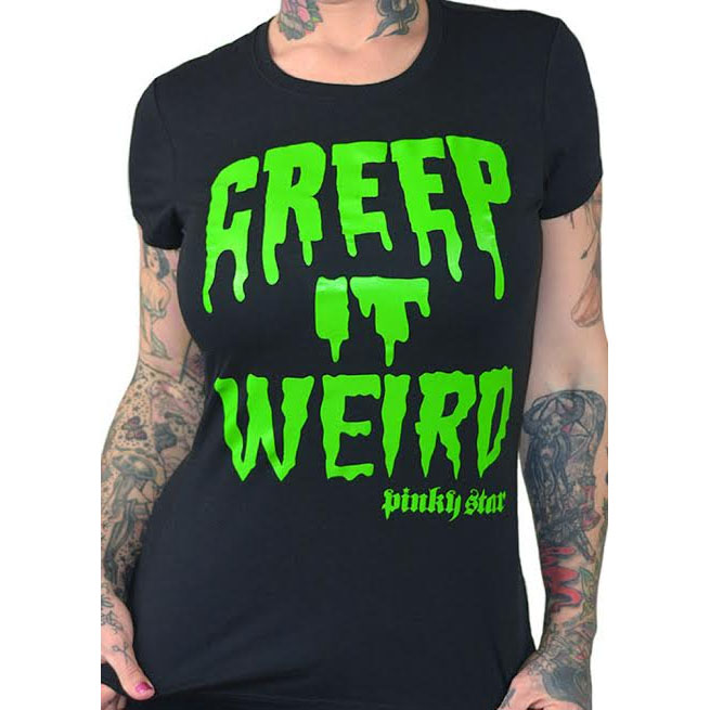 Creep It Weird Fitted Shirt by Pinky Star - SALE