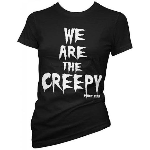 We Are The Creepy Fitted Shirt by Pinky Star - SALE sz L only