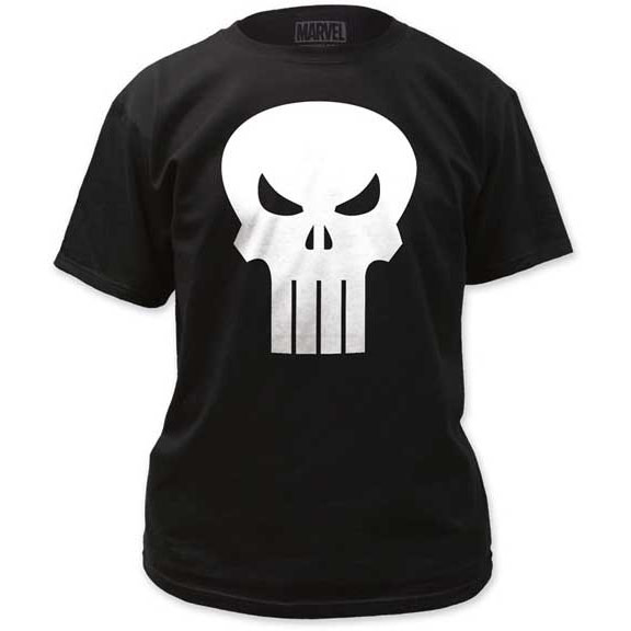 Marvel Comics- Punisher Skull on a black shirt